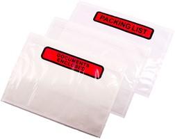 Plastic Paklijst Enveloppen A6 Formaat
