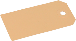 Kartonnen Labels lichtbruin/chamois