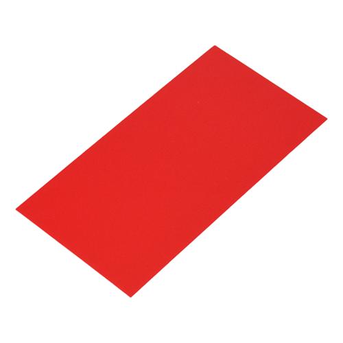 Bodemkarton voor blokbodemzakjes 120 x 70 mm - Rood - per 100 stuks