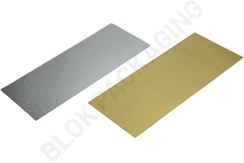 Bodemkarton voor blokbodemzakjes 210 x 90 mm - Zilver/goud - per 100 stuks