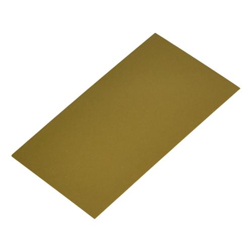 Bodemkarton voor blokbodemzakjes 80 x 50 mm - Goud - per 100 stuks
