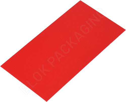 Bodemkarton voor blokbodemzakjes 80 x 50 mm - Rood - per 100 stuks