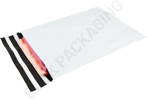 Verzendzakken 305 x 405 mm plastic (COEX) met retourstrip - per 100 stuks