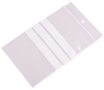 Gripzakken met schrijfvlakken 70 x 100 mm - 50 micron LDPE - per 1000 stuks