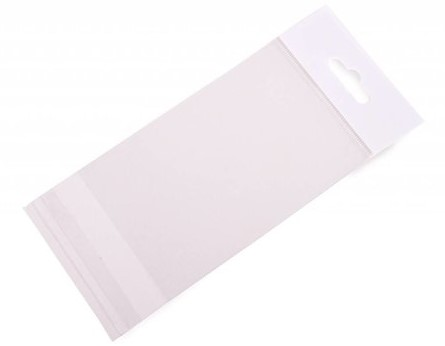 Headerbag 100 x 150 + 30 mm - 30 micron OPP</br>Per 100 stuks