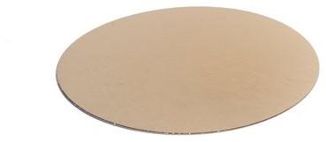 Kartonnen rondel zilver/goud Ø 160 mm</br>Per 250 stuks