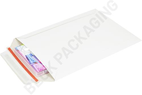Kartonnen enveloppen 176 x 250 mm - 450 grams wit karton - per 100 stuks