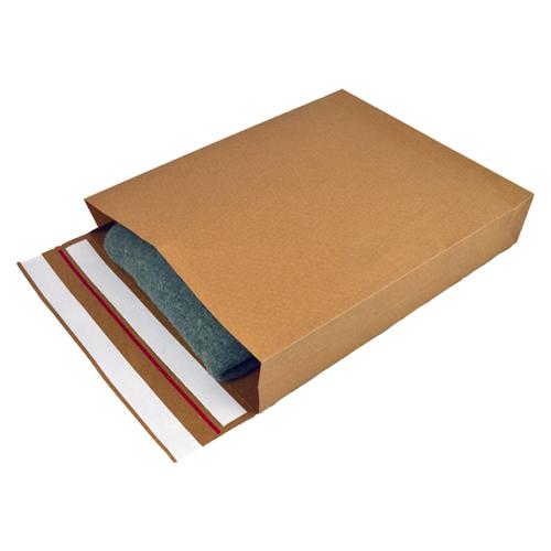 Verzendzakken kraftpapier 250 + 50 x 350 mm (E-Green) - per 250 stuks