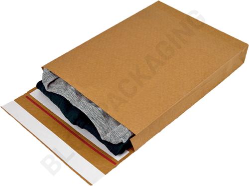 Verzendzakken kraftpapier 162 + 40 x 229 mm (E-Green) - per 250 stuks