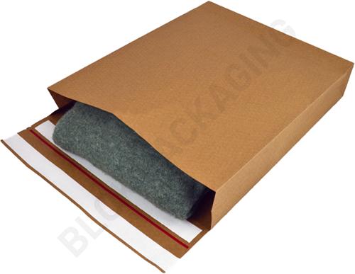 Verzendzakken kraftpapier 350 + 80 x 450 mm (E-Green) - per 200 stuks