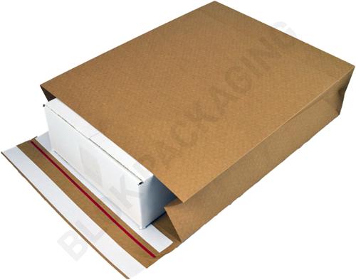 Verzendzakken kraftpapier 350 + 120 x 450 mm (E-Green) - per 200 stuks