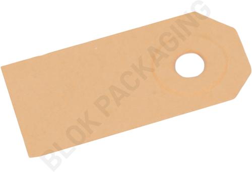 Kartonnen Labels 25 x 50 mm lichtbruin/chamois - per 1000 stuks
