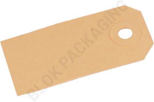 Kartonnen Labels 35 x 70 mm lichtbruin/chamois - per 1000 stuks