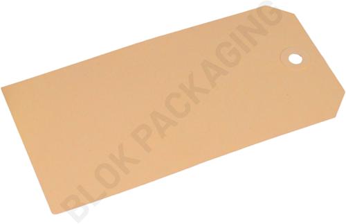 Kartonnen Labels 80 x 160 mm lichtbruin/chamois - per 1000 stuks