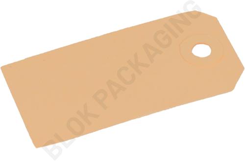 Kartonnen Labels 40 x 80 mm lichtbruin/chamois </br>per 1000 stuks