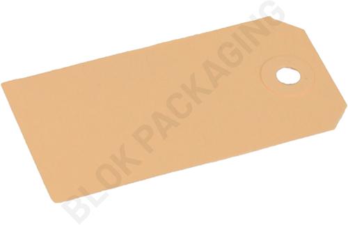 Kartonnen Labels 45 x 90 mm lichtbruin/chamois - per 1000 stuks