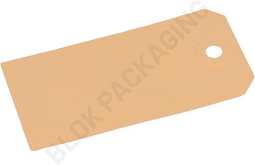 Labels (Nr. 4) 50 x 100 mm - 200 grams bruin karton</br>Per 1000 stuks