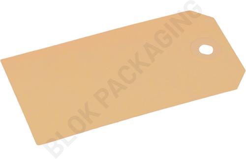 Kartonnen Labels 55 x 110 mm lichtbruin/chamois - per 1000 stuks