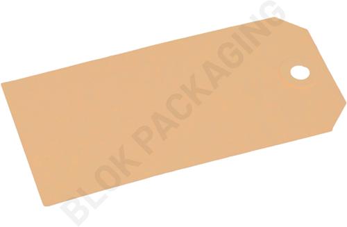 Kartonnen Labels 60 x 120 mm lichtbruin/chamois - per 1000 stuks