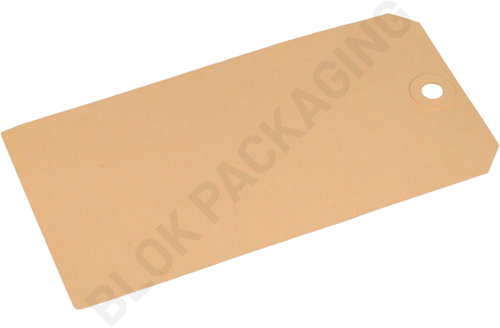 Kartonnen Labels 75 x 150 mm lichtbruin/chamois - per 1000 stuks