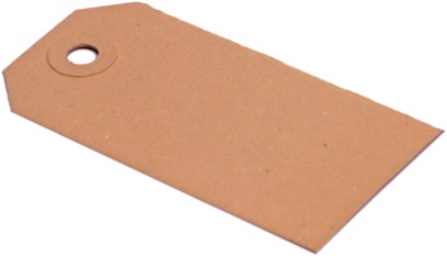 Labels (Nr. 0) 25 x 50 mm - 200 grams bruin karton</br>Per 1000 stuks