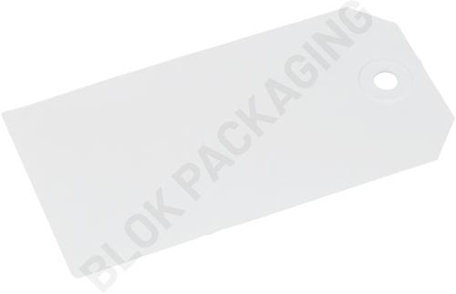 Kartonnen Labels 55 x 110 mm wit </br>per 1000 stuks