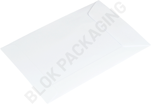 Loonzakjes 110 x 155 mm wit papier </br>per 1000 stuks