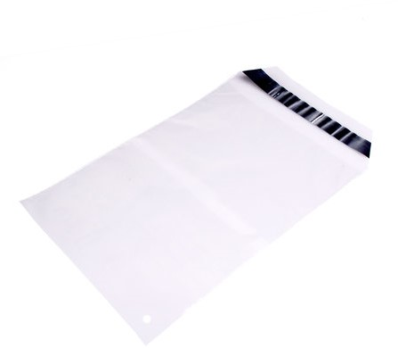 Mailing envelop transparant 250 x 350 + 50 mm - 45 micron LDPE - per 100 stuks