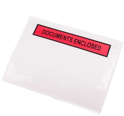 Paklijst envelop A5 - Documents Enclosed - Extra Sterk</br>Per 1000 stuks