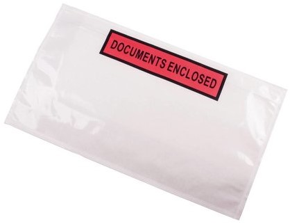 Paklijst envelop DL - Document Enclosed</br>Per 1000 stuks