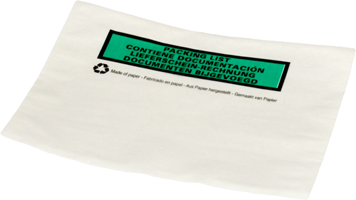 Paklijst envelop A6 - Bedrukt meertalig - Papier</br>Per 1000 stuks