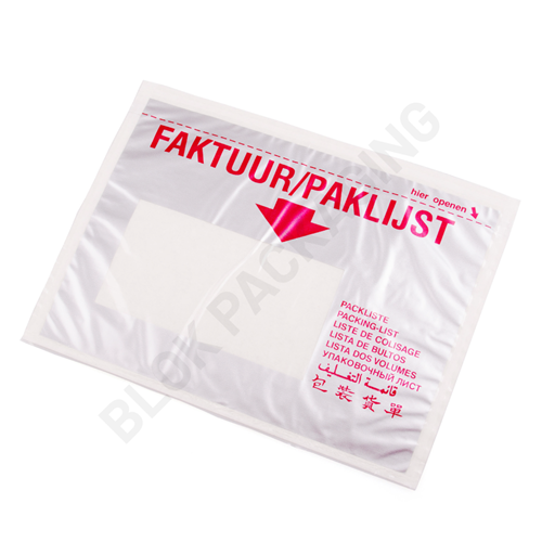 Paklijst envelop A6 - Meertalig - Venster links - per 1000 stuks