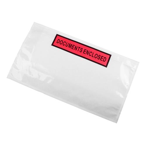 Paklijst envelop 225 x 122 mm (DL) - Documents Enclosed - per 1000 stuks
