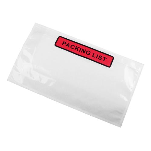 Paklijst envelop 225 x 122 mm (DL) - Packing List - per 1000 stuks