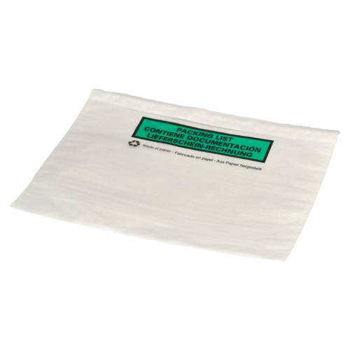 Paklijst envelop 228 x 165 mm (A5) papier - bedrukt meertalig - per 1000 stuks