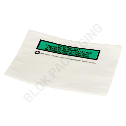 Paklijst envelop A6 - Bedrukt meertalig - Papier - per 1000 stuks