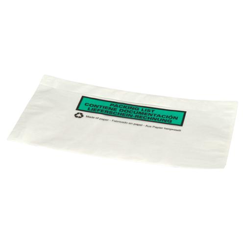 Paklijst envelop 228 x 120 mm (DL) papier - bedrukt meertalig - per 1000 stuks