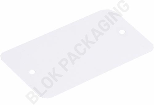 Plastic Labels 65 x 120 mm wit - per 1000 stuks