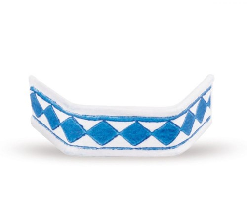 Sluitclips (U-Clips) 33 mm - blauw/wit - per 1000 stuks
