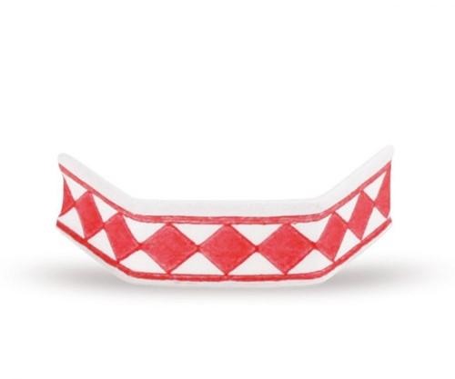 Sluitclips (U-Clips) 33 mm - rood/wit - per 1000 stuks