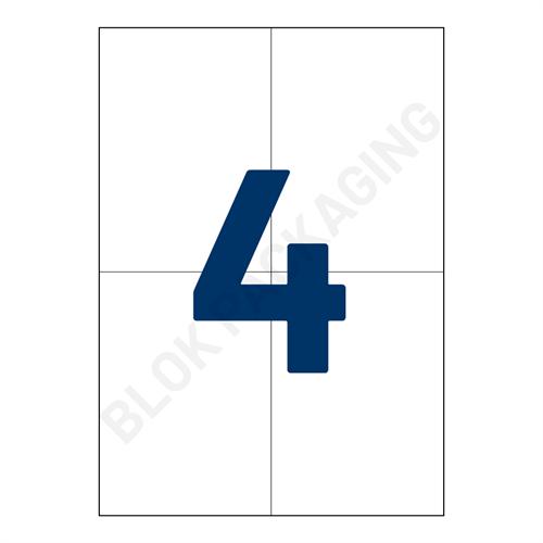 Verzendlabels A4 - 4 per vel - 105 x 148,5 mm - per 200 vellen