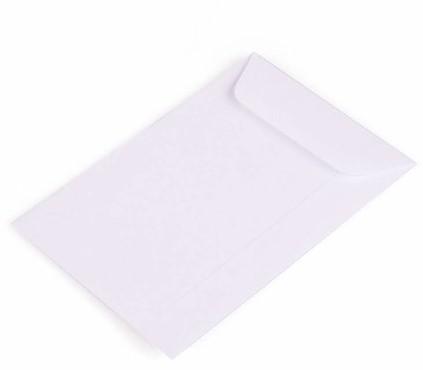 Loonzakjes 114 x 162 mm - 80 grams wit papier</br>Per 500 stuks